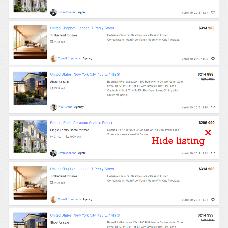 Hide listings