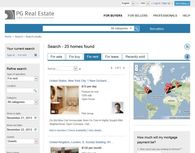 Search widget for Real Estate